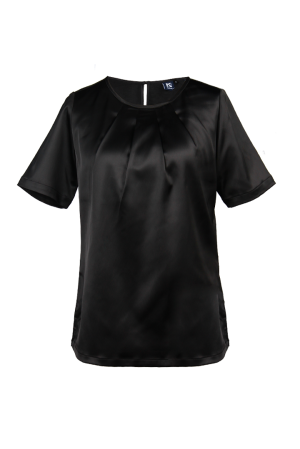 Ladies' Round Neck Blouse Black