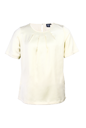 Ladies' Round Neck Blouse Ivory