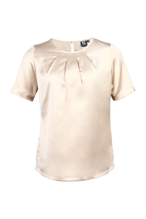 Ladies' Round Neck Blouse Champagne