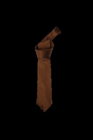 Mini Check Tie (Brown)